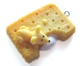 Mouse Eating a Cookie Charm (Square)