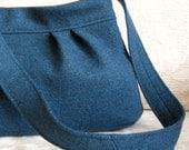 Teal JASPER, Upcycled Felted Wool Handbag