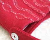 Brick Red EMMA Handbag, Upcycled Wool Sweater Purse