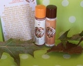 Autumn's Leaves and Candy Corn and Coconut Milk Peach Mango Vegan Smoochalicious Lip Conditioner Set