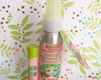 Springs Blossoming Flowers and Butterfly Kisses Body Mist and Lip Conditioner Set