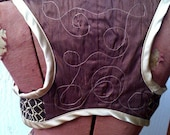 Gold And Brown Steampunk Underbust Tribal Bellydance Ghawazee Vest Small