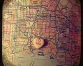 i love you long beach custom candy heart map art ttv photo print