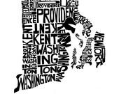 Rhode Island - typography...