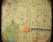 love you brooklyn custom candy heart map art ttv photo print - free shipping
