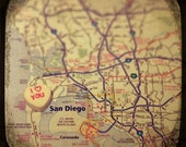 i love you san diego candy heart map art 5x5 ttv photo print - free shipping