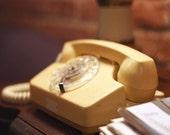 photo print - vintage rotary phone - art print wall home decor office art print