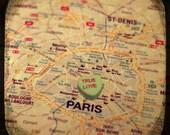 true love paris custom candy heart map art 5x5 ttv photo print - free shipping