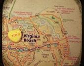 xoxo virginia beach custom candy heart map art 8x8 ttv photo print - free shipping