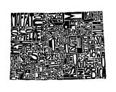Colorado typography map a...