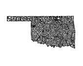 Oklahoma - typography map...