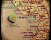 me & you santa cruz custom candy heart map art 8x8 ttv photo print - free shipping