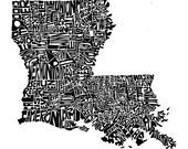 Louisiana - typography ma...