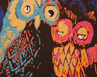 Psychedelic Owl - Fine Art Print kids room wall decor nursery home decor dorm wall art