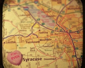 forever syracuse candy heart map art 5x5 ttv photo print - free shipping