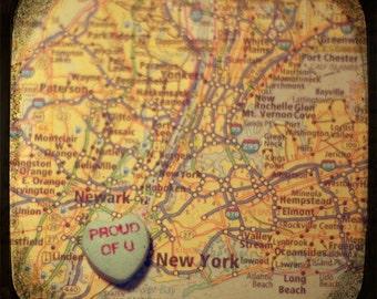 proud of u new york custom candy heart map art 5x5 ttv photo print - free shipping