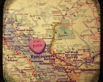 forever vancouver candy heart map art 5x5 ttv photo print - free shipping
