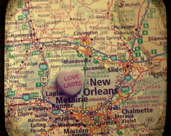 love lasts new orleans custom candy heart map art 5x5 ttv photo print - free shipping