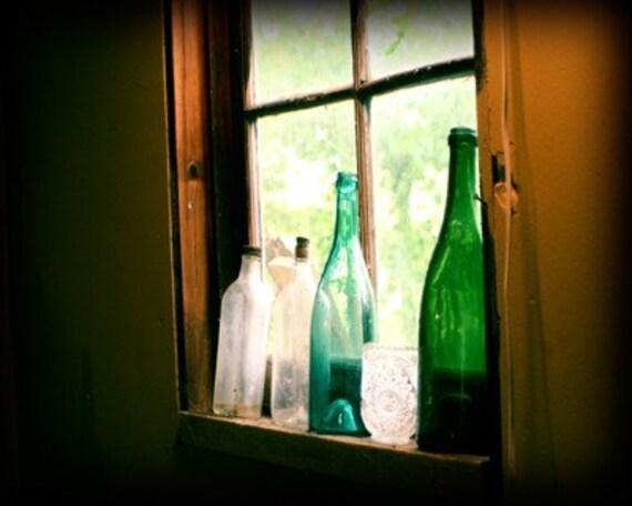 Antique Bottles photograph art print kitchen wall decor home decor