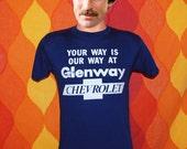 vintage t-shirt 80s GLENWAY chevrolet tee shirt Small chevy cincinnati ohio