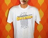 vintage tee shirt 80s CORVETTE fever magazine puffy paint sportscar chevy t-shirt XL