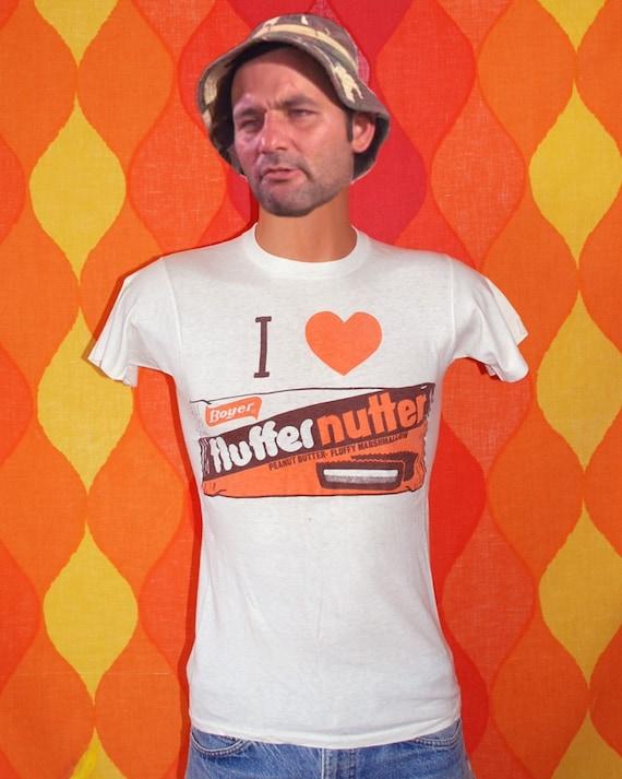 vintage 70s tee shirt i love FLUFFERNUTTER candy t-shirt Small peanut butter marshmallow