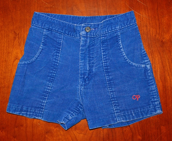 Vintage 80s Blue Corduroy Op Ocean Pacific Cord Surf Shorts 24