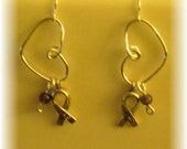 Alzheimer's Awareness Cause Ribbon Earrings
