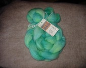 Blue Face Leicester Wool Roving Hand Dyed 4oz