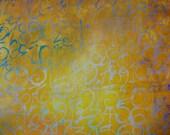 Handpainted Fabric---Numbers Batik