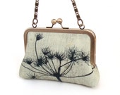 Somerset seedhead - medium clutch bag with chain handle