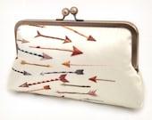 Arrows - A Red Ruby Rose original silk clutch bag