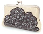 ON SALE: Cloud clutch, Silk purse / bridesmaid / bridal / party