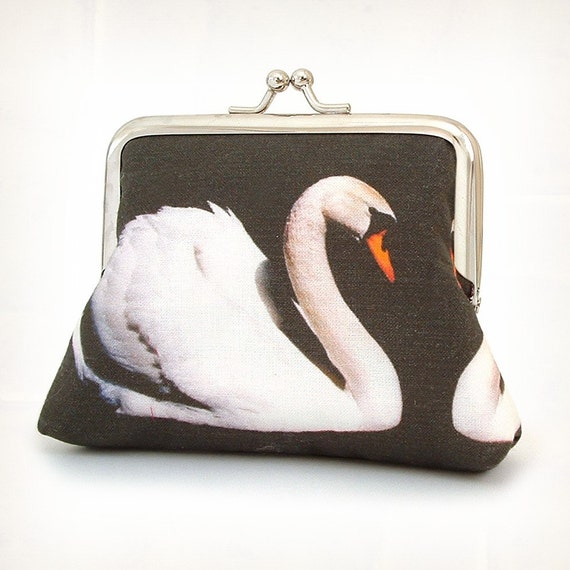 Swan original silk-lined pocket purse