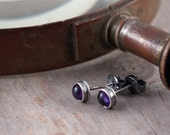 Sweet Violets - Mini Amethysts in Hand Forged Sterling Silver