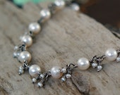 Reserved for Goldie50 - Pearl Tassel Bracelet - Sterling Silver with Freshwater and Seed Pearls
