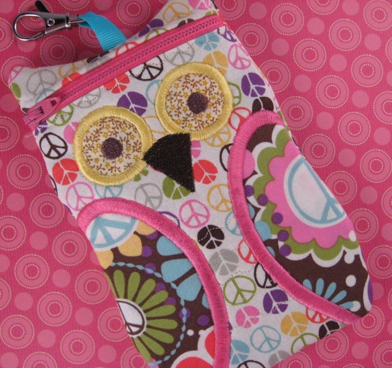 Peace owl iPhone case, gadget case point and shoot camera case