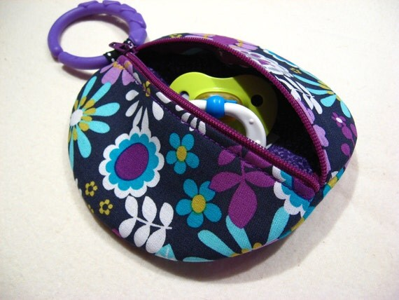 Lazy Daisy Binky Pouch Pacifier Case Paci Pod Michael Miller Fabric