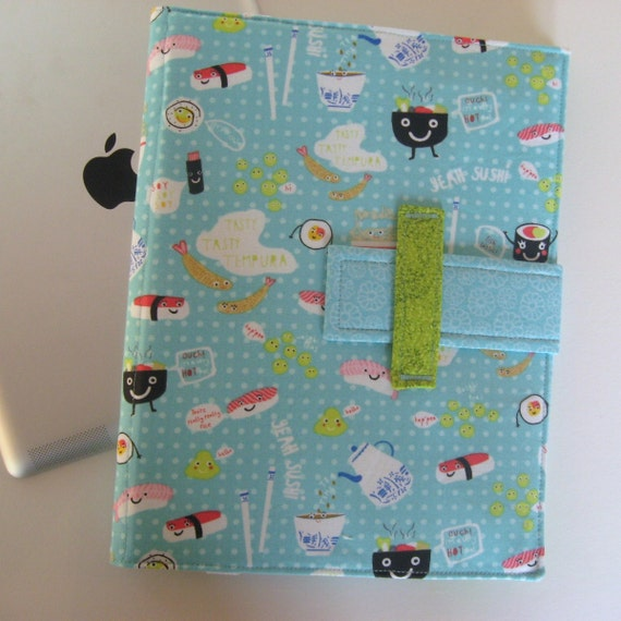 Cute iPad cover converts to stand fabric ipad case Kawaii ipad case