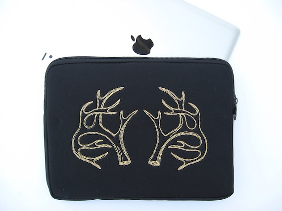 iPad bag Antler Embroidered neoprene iPad case tablet case netbook case