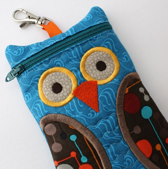 Owl iPhone Case Teal and Brown Owl Case iPod Touch