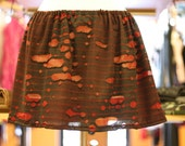 Red and Black zombie burnout monster halloween skirt