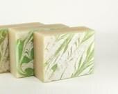 Cotton Scent Soap, Sea Island Cotton Artisan Soap, Green Vegan Soap, Homemade Soap for Men and Women -- Sea Island Cotton Soap