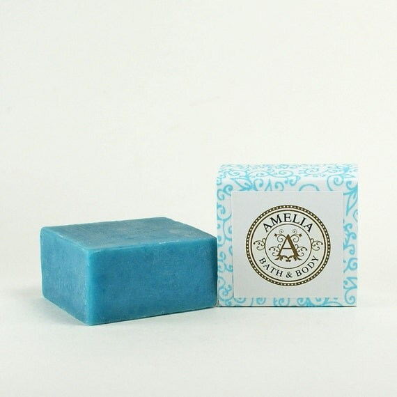 Premium Shea Butter Soap | Ocean Scent, Gift Soap, Cold Process Facial Soap | Island Mist Shea Butter Soap in Guest Size