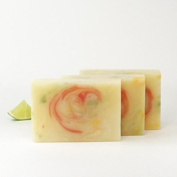 Lime Citrus Artisan Soap, Margarita Lime Soap, Premium Handcrafted Soap, Vegan Soap -- Lime Citrus Splash Soap