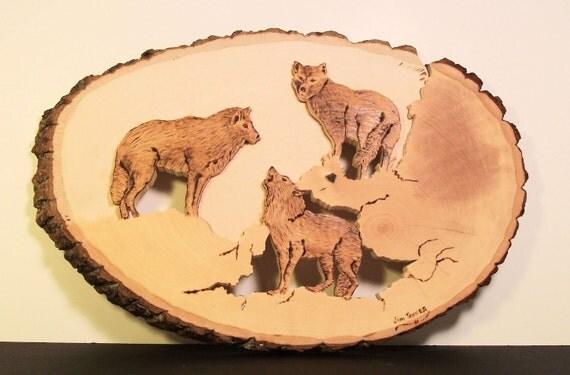 Three Wolves Plaque