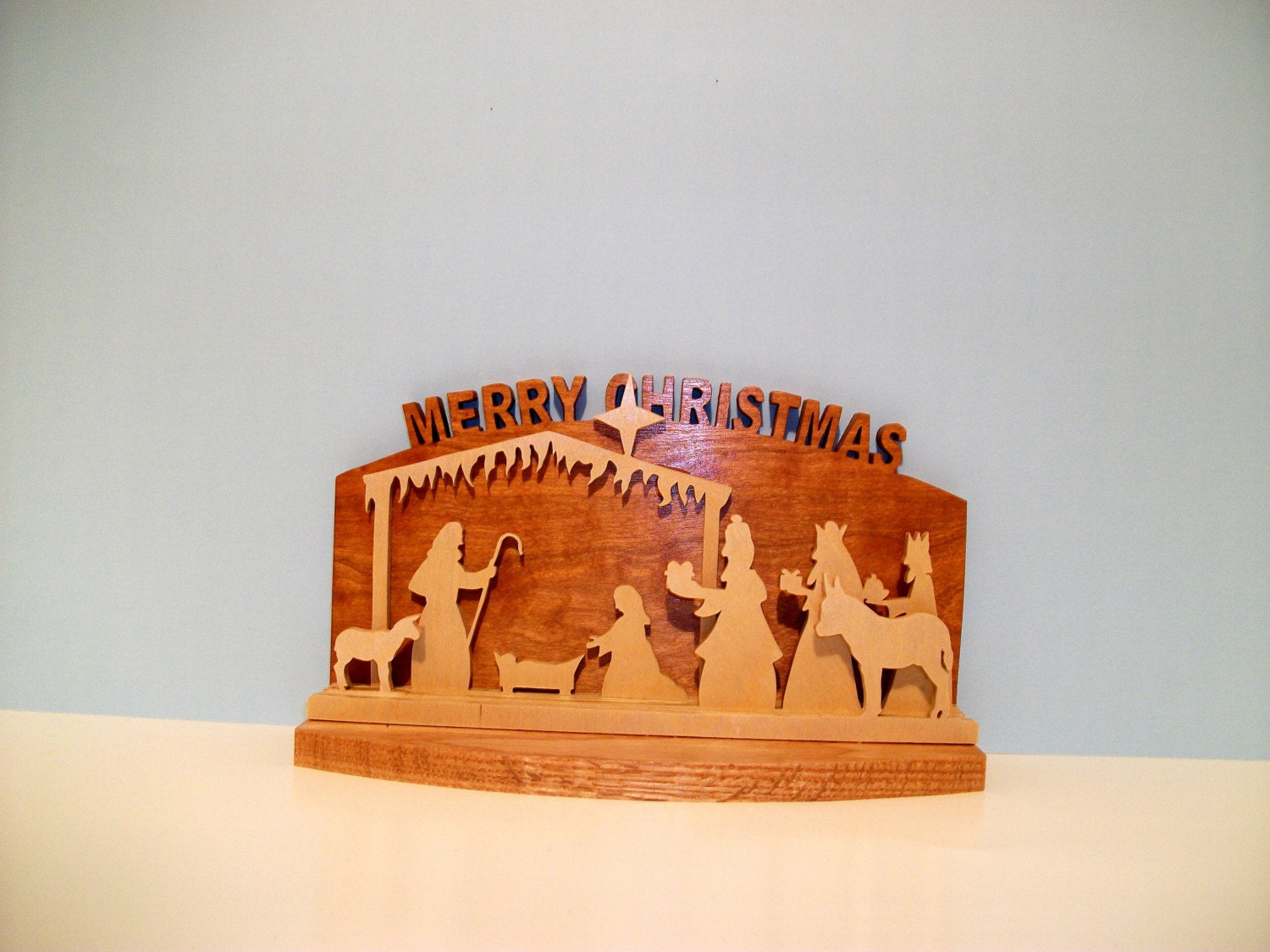 Small Table Top Nativity Scene