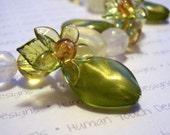 RESERVED - Green Flora Bracelet