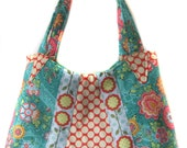 SALE Shoulder Handbag/Tote/Purse - New Design- Red Green, Pink Cherry White Poka Dot
