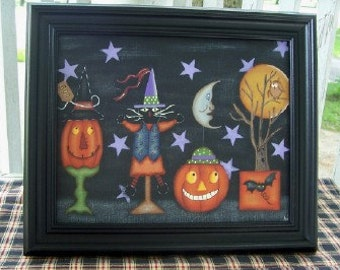 Halloween 8 x 10 Framed Canvas Home Decor Picture